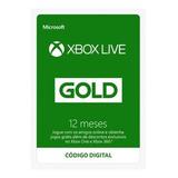 Xbox Live Gold 12 Meses Código 25 Dígitos Xbox One E 360