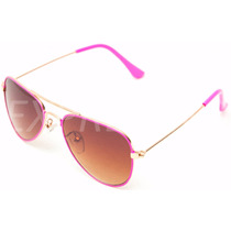 Óculos De Sol Infantil Feminino Estilo Aviador