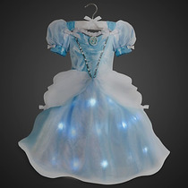 Vestido Princesa Cinderelac/luz Original Da Disney P/entrega