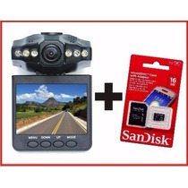 Camera Filmadora Veicular Automotiva + Cartão 16gb Scan Disk