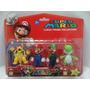 Kit Super Mario Com 4 Personagens À Pronta Entrega