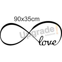 Adesivo Decorativo Love Amor Infinito Papel Parede Quarto