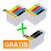 Kit 10 Cartuchos Compatível Epson Impressora Stylus Tx135