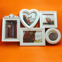 Quadro Painel De 5 Fotos Porta Retratos Parede Decoração