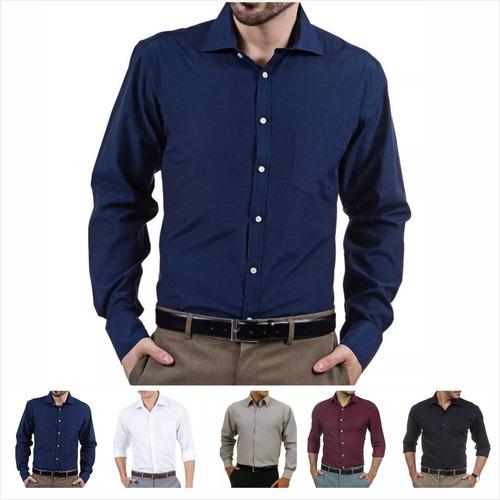 Kit 3 Camisa Social Masculina Personalizada Uniforme. R  179 c12e0d89fdb09