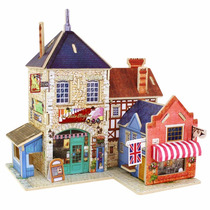 Casa De Madeira Quebra Cabeça Puzzle 3d - Chale Castelo