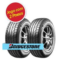 Kit 2 Pneu Aro 14 Bridgestone 185/60r14 Potenza Giii 82h