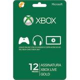 Xbox Live Gold 12 Meses - Xbox 360/one - Código 25 Dígitos