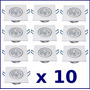 Kit 10 Spot Quadrado Branco Frio Led Luz 3w Teto