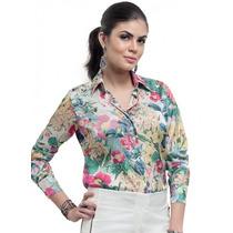 Camisa Estampada Floral Feminina Principessa Manuele