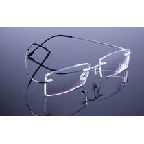 Armação Grafite Feita De Titanium Óculos Grau Sem Aro A575
