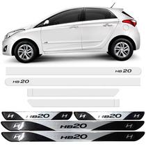 Kit Friso Lateral Hyundai Hb20 Branco Polar + Soleira