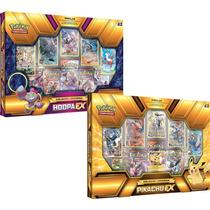 2 Box Pokémon Coleção Lendária Pikachu-ex E Hoopa-ex