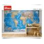 Adesivos 123 Parede Decorativo Mapas Mundi Brasil Gigante