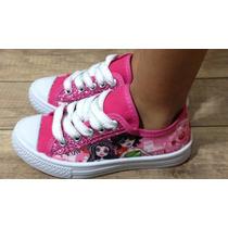 Tênis Infantil Pink Glitter Monster High Frete Grátis