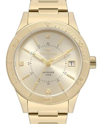 Relógio Technos Feminino  Dourado Skymaster