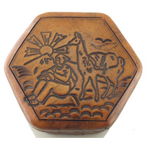 Conjunto 3 Porta-joias Com Detalhe Artesanal De Couro B1579