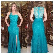 0f9004272 Vestido Festa Longo Verde Tiffany Luxo Madrinhas Casamento à venda ...