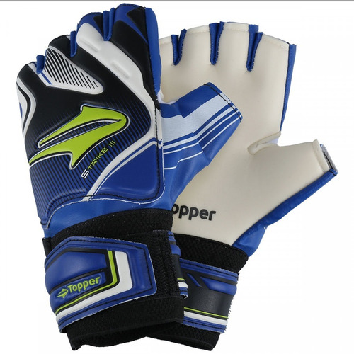 7c86a79d44 Luva Goleiro Topper Strike Futsal Azul E Preto - Original