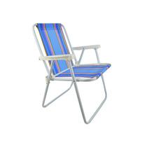 Cadeira De Praia Camping Lazer Mor Alta Em Aço