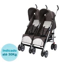 Carrinho De Bebê Para Gêmeos Duetto - Brown Burigotto