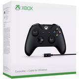 Controle Xbox One S Preto + Cabo Para Pc P2 Microsoft