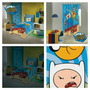 Adventure Time Kit 5pçs Edredom+lençol+fronha+cortina+toalha