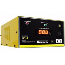 Carregador De Bateria 12v 20-ah Com Amperimetro Digital