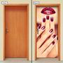 Adesivo Decorativo De Porta - Salão De Beleza - 623mlpt