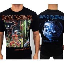Camiseta De Banda - Iron Maiden - Somewhere In Time