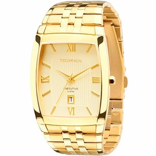 ff311036c4a1c Relógio Technos Masculino Quadrado Dourado 1n12mp 4x. R  313.4