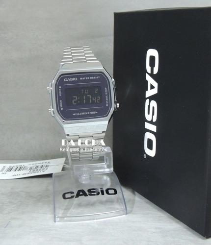 2000ce70a93 Lançamento Relógio Casio Vintage A168wem-1df (nf E Gar) - R  258 en ...