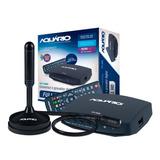 Kit Conversor Digital Dtv-7000s E Antena Hd Dtv-100 Dtv-7100