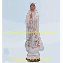 Escultura Nossa Senhora Fatima Linda Imagem 60cm Fabrica