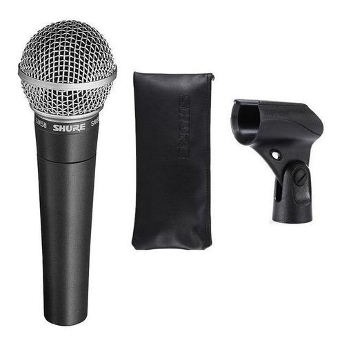 Microfone Shure Sm58 Cardióide, Unidirecional
