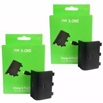 2bateria E Cabo Carregador Controle Xbox One Charge Play Kit