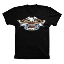 Camiseta Camisa De Moto Harley Davidson A Lenda Americana