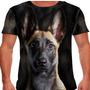 Camiseta Cachorro Pastor Malinois Masculina