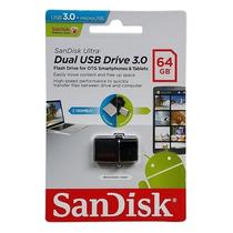Pen Drive Sandisk Ultra Dual Drive Usb 3.0 Micro-usb - 64gb