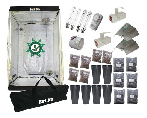 Kit Cultivo Indoor Estufa 120x120x200 Grow Completo 800w
