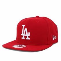 Boné Aba Reta La Dodgers Vermelho Original Fit Snapback