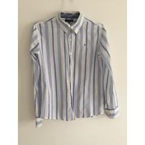 Camisa Listrada Tommy Hilfiger Masculina - Tamanho 14