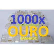 Conector Rj45 Cat5e Cabo Rede Rj 45 Lan Plug Kit 1000 Peças