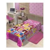 Cobertor Jolitex Ternille Manta Soft Solteiro Princesa Castelos