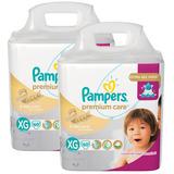 Kit Fralda Pampers Premium Care  Tamanho Xg 120 Tiras