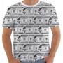 Camiseta 1734 100 Dolár Money Pato Donald Desenho Duck Pb