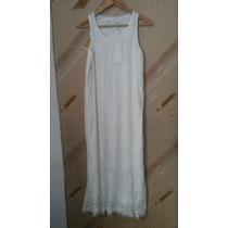 Vestido Longo Branco Com Cinto/novo/cortado A Laser *novo*