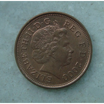 1899 Inglaterra 2000 Two Pence 26mm - Bronze Elizabeth