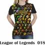 Camiseta Blusa Games League Of Legends Feminina Lol 018