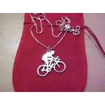 Corrente,gargantilha,colar,ciclista,bike,prata 925 K,joias.